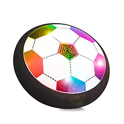 Kids Air Power Soccer Ball, Kids Disk Hover Ball Easter Gift Equipped with LED Lights, Sports Foam Bumpers for Indoor Outdoor Activities