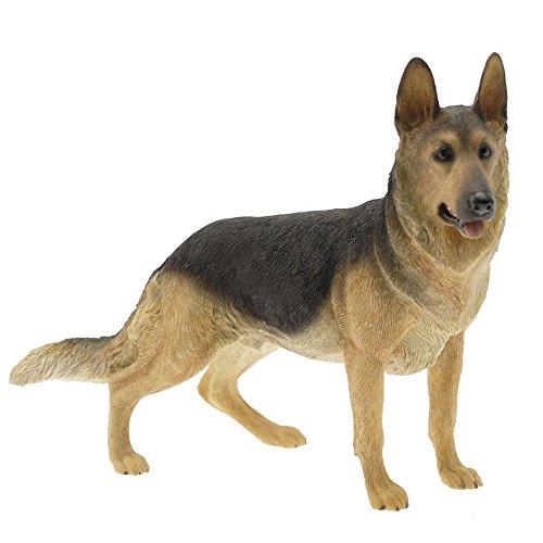 """Leonardo Figur / Ornament mit """"elsässisch, schwarz-braunem Schäferhund""""-Motiv (ideal geeignet für Hundeliebhaber)"""