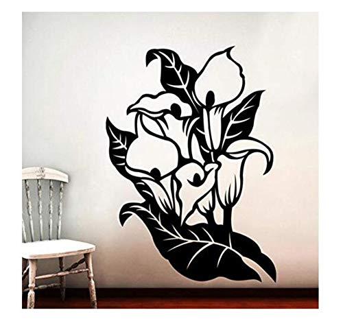 Sticker Mural En Vinyle Amovible 43X31Cm Creuser Autocollant Mural Fleurs Amovible Autocollant Décoratif Décor À La Maison Stickers Muraux