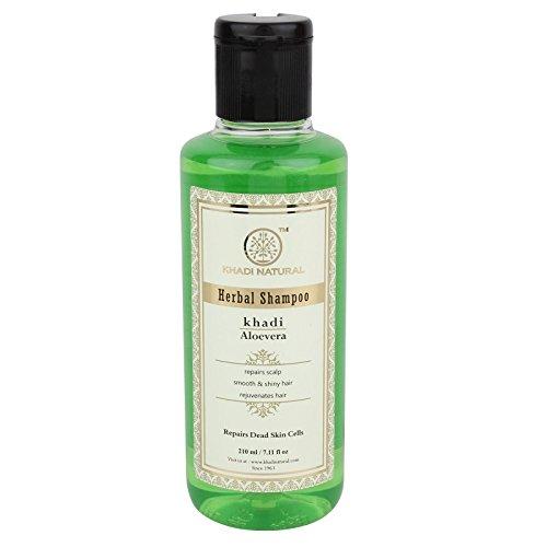 Khadi Herbal Aloevera Shampoo to Prevent Dandruff and Promote Hair Growth SLS and Paraben Free (210 ml / 7.1 fl oz)