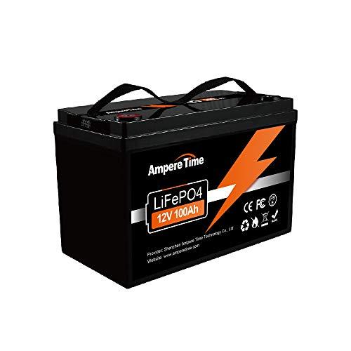 LiFePO4 Deep Cycle Akku 12 V 100 Ah mit integriertem BMS, perfekt als Ersatz für die meisten Backup-Power- und Off-Grid-Anwendungen