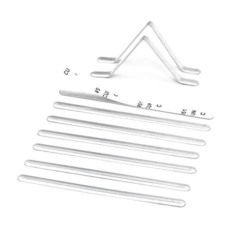 Metal Nose Strip for Masks, 100 PCS Self Stick Adhesive Aluminum Nose Bridge Strips Bendable Flexible Flat Nose Bridge Wire Clip for DIY Handmade Cotton Fabric Cloth Face Mask Making