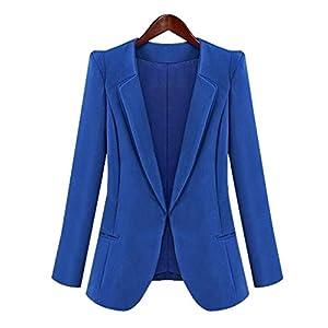 LRUD Frauen Vorne öffnen Drapiert Zugeschnitten Arbeit Büro Dame Blazer Klubjacke Seite Reißverschluss Jacke Anzug Strickjacke Revers Mantel