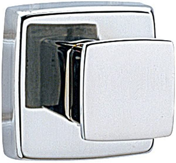 Bobrick 6717 ClassicSeries Stainless Steel Surface Mounted Single Robe Hook Satin Finish 2 Length X 2 Width X 2 Projection