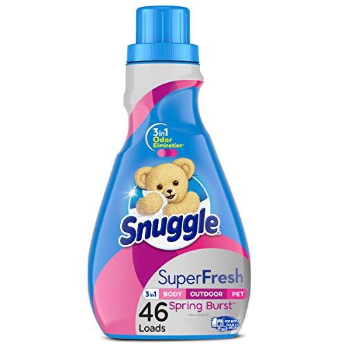 Snuggle Plus Super Fresh Liquid Fabric Softener, Spring Burst, 48.6 Fluid Ounce