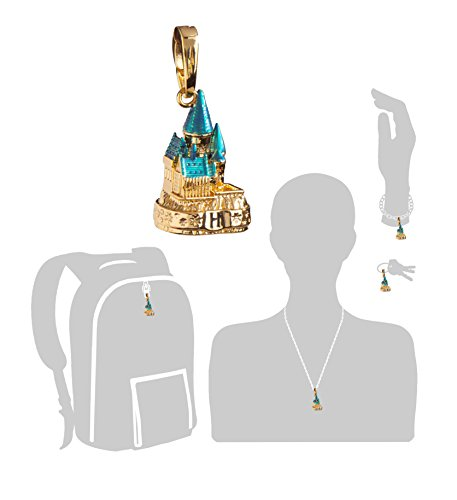 The-Noble-Collection-Lumos-Charm-2-Hogwarts-Castle-Coloured-Gold