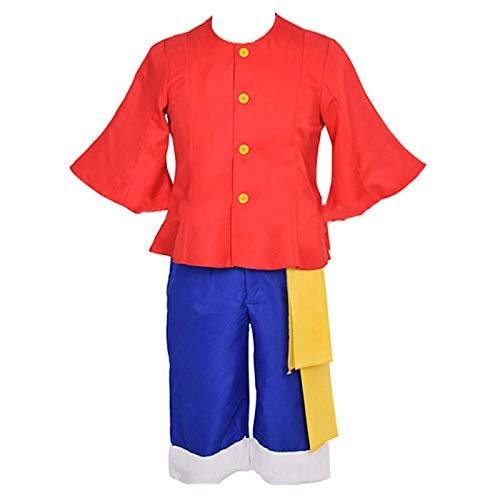 Disfraz de Cosplay de Anime One Piece, Utilizado para Halloween, Navidad, Carnaval, Fiesta temtica, Cosplay, Mono D. Luffy