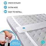Nuzanaya Bed Bridge Twin to King Converter Kit - Super Wide Bed Gap Filler, Unique Strap Design to Turn Split Twin or Twin XL Beds into King (Twin Bed Connector King Maker)