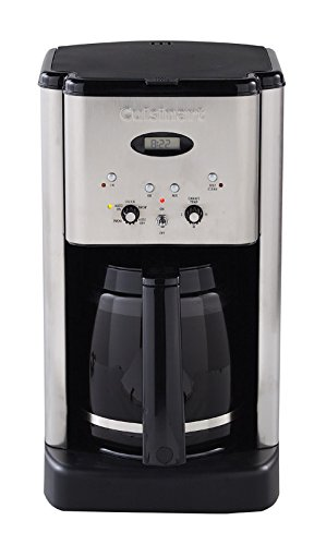 Cuisinart Brew Central Programmable Coffeemaker Digital 12 Cup Brushed Ss Charcoal Water Filter