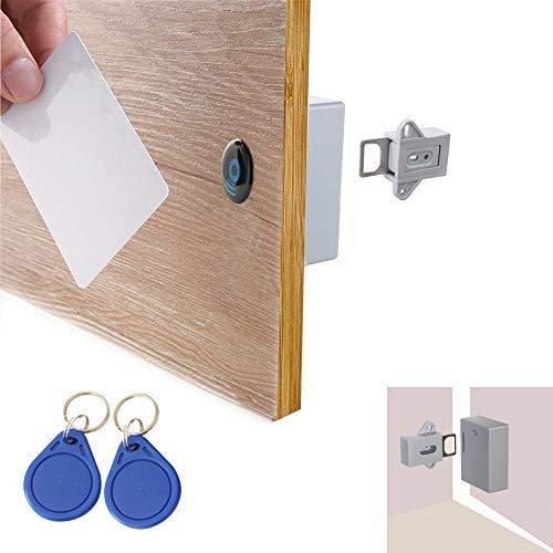 ETEKJOY RFID Electronic Cabinet Lock Hidden DIY for Wooden Drawer Cabinet, Ready for Use & Programmable
