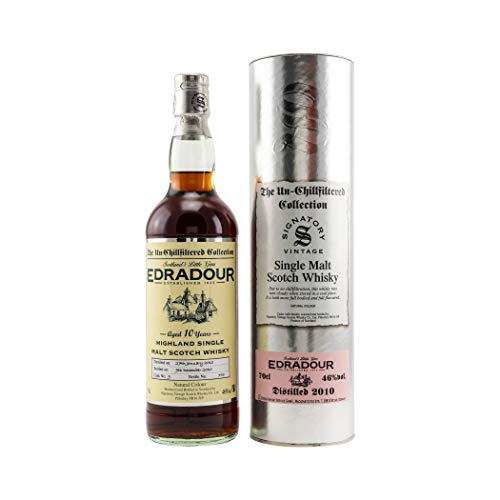 Signatory Vintage Edradour 10 Years Old The Un-Chillfiltered Collection 2010 46% Volume 0,7l in Tinbox Whisky