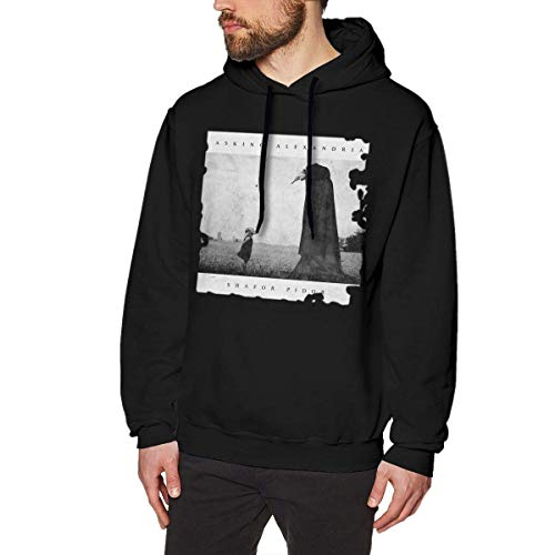 HSJCBHLS Männer Hoodies Men's Asking Alexandria The Black Lovely Sweatshirt Black Personality top