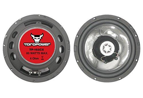 Toropower TP-165CX - Altavoces de 2 vías, color negro