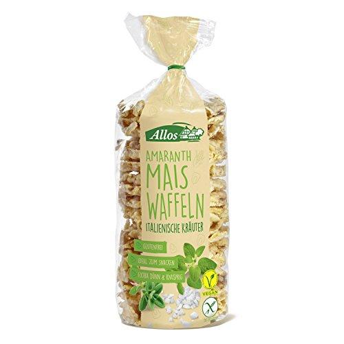 Allos Amaranth Maiswaffeln italienische Kräuter, 100 g