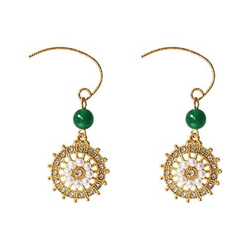 Lange Damenohrringe aus Sterlingsilber Plattenspieler Kristall voller Diamanten Ohrringe Elegantes und zartes Geschenk SDHJMT