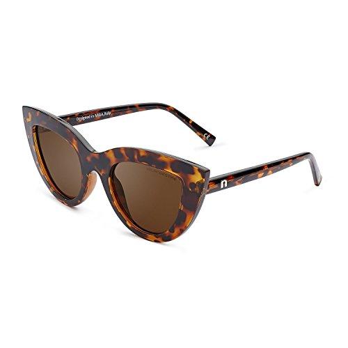 CLANDESTINE Gatto Habana Brown - Gafas de sol de Nylon HD de Hombre & Mujer