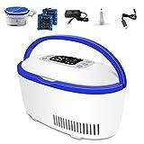 WH SHOP Portable Réfrigérateur à Insuline Réfrigéré Boîte Bluetooth Contrôle Sac pour Insuline 2-8 ° C pour Voyage Voiture Réfrigérateur de Médecine et de L'insuline Glacière (2 Batteries)