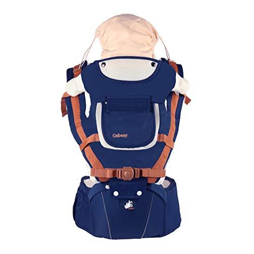 Mochila Portabebé Multifunción Ergonomicas para Bebé Recién Nacido Marsupios portabebé 6 Postura manos libres Adjustable Transpirable Azul Real Talla única