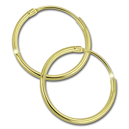GoldDream 8 Karat Creolen 20mm 333 Gelbgold Ohrring Echt Gold Simply D2GDO0032Y ein schönes Geschenk zu Weihnachten, Geburtstag, Valentinstag für die Frau