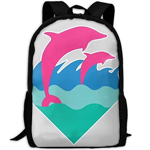 Sky-Flower Pink Dolphin.PNG Mochila Elegante para portátil Mochila Escolar Mochilas Escolares Mochilas universitarias Mochila