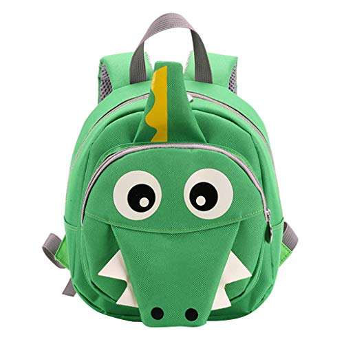 Kids Backpacks Dinosaur Toddler Nursery Bags Baby Rucksack with Safety Rein Perschool Bag Ideal for 1-3 Age(Green)