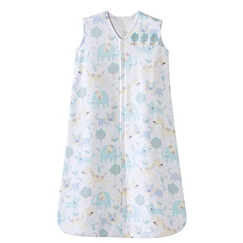 Halo Sleepsack 100% Cotton Wearable Blanket, Blue Animal,...