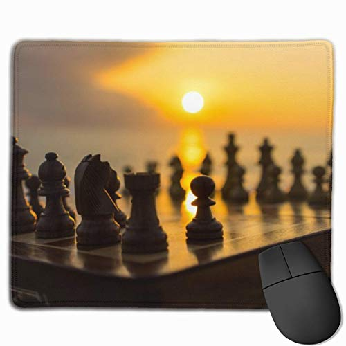 Brettspiel Schach rutschfeste personalisierte Designs Gaming Mouse Pad Schwarzes Stoff Rechteck Mousepad Art Naturkautschuk Mausmatte mit genähten Kanten