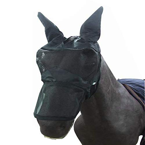 Alfie Pet - Jesus Horse Fly Mask with Ears and Nose Cover - Size: Medium
