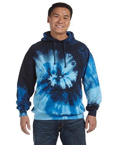 Tie-Dyed Tie-Dye 8.5 oz Pullover Hood, XL, Blue Ocean