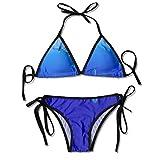 Tiburón Nadando bajo los Sistemas de Bikini para Mujer Impresos mar, Traje de baño de la Playa del Traje de baño del triángulo