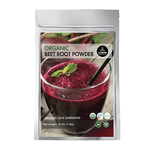 Organic Beet Root Powder (1 lb) by Naturevibe Botanicals, Raw & Non-GMO | Nitric Oxide Booster | Boost Stamina and Increases Energy [Packaging May Vary]…