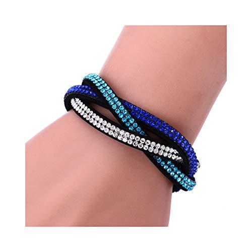 CNSP VIVIZEY Europe Multi Row Velvet Rhinestone Bracelet Weave Leather Chakra Bracelet For Women Birthday Gifts Pulseras Hombre 3
