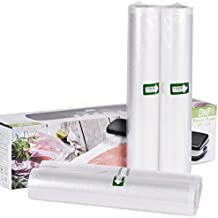 BNT 2 Pack 11inch x 16ft Food Saver Vacuum Sealer Freezer Bags, Seal a Meal Food Saver Bags Rolls, Commercial Grade, Heavy Duty, BPA Free,Great for Vac Storage- Cut to Size Roll (Total 32 feet)
