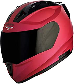 Steelbird SA-1 7Wings Aeronautics Full Face Helmet in Matt Finish (Medium 580 MM, Matt Hot Pink with Smoke Visor)
