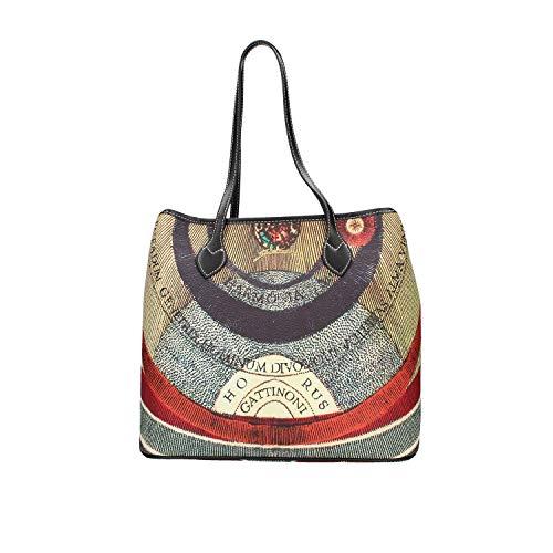 Gattinoni Borsa planetario shopping media BIGPL6434WPQP26 classic