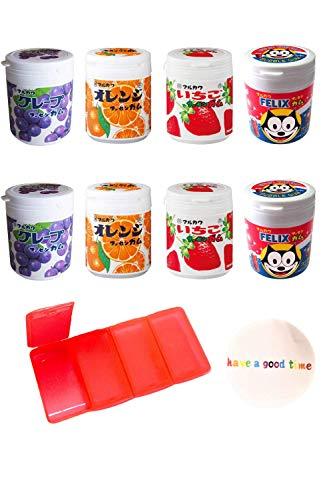 マルカワ ガム マーブルガム 4種ボトルセット ×2 (コーラ・グレープ・オレンジ・いちご) 【持ち運び用ガム・サプリケーズ付き】