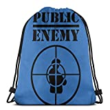 Bolsa de cordón para deporte con cordón para el enemigo público más duro de lo que piensas, unisex, con cordón, bolsa grande, bolsa de mano, gimnasio, bapa a granel