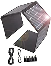Zonnelader 28W Opvouwbaar Zonnepaneel 2 Usb-poorten 18V DC poort Draagbare Waterdichte QC3.0 Snelle Opladen Zonnelader voor Camping, Mobiele telefoons, Power bank