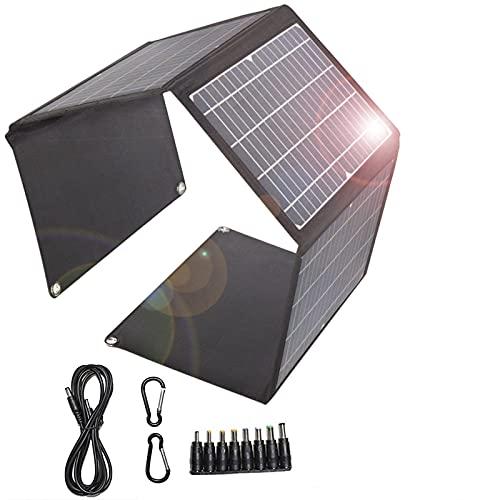 Cargador solar 28W Panel solar plegable 2 puertos USB 1 puerto DC portátil impermeable QC3.0 carga rápida cargador solar para camping, teléfonos móviles, banco de energía