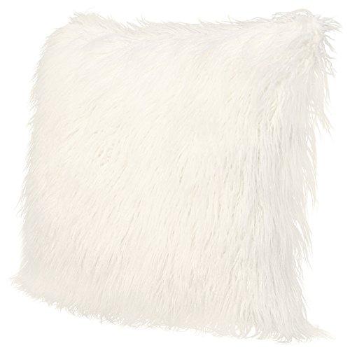 ICOSY Fluffy Pillow Case Mongolian Faux Fur Pillow Cover Super Soft Plush Throw Pillows Fluffy Throw Pillow Cushions Decorative Cushion Covers 45x45CM(NO INSERT)