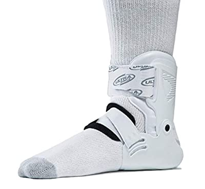 Ultra Zoom Ankle Brace for Injury Prevention, Provides Support and Helps Prevent Sprained Ankles in Volleyball, Basketball, Football - Supportive, Secure Brace for Athletes - White, Small/Medium