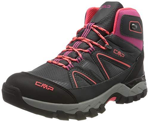 CMP Kids SHEDIR MID Hiking Shoes WP Walking Shoe, Antracite-RED Fluo, 35 EU