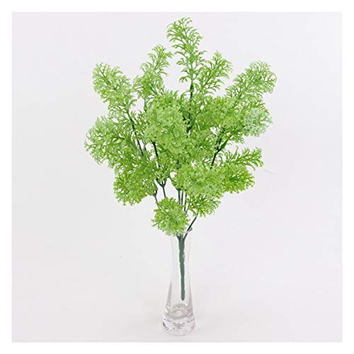 Prägung 35 cm künstliche Kunststoff frisch moos Gras Pflanzen dekor Hochzeit Party Hause Kirche Party grüne Ornament DIY Handwerk lieferungen Vasenfüllung (Color : White)