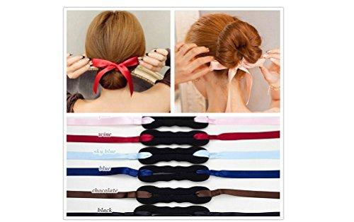 Haarknotenhalter / Duttkissen, für French Twist, Haarknotenmacher/Haar-Donut/Haarknoten-Donut, Haarteil, 3 Stück