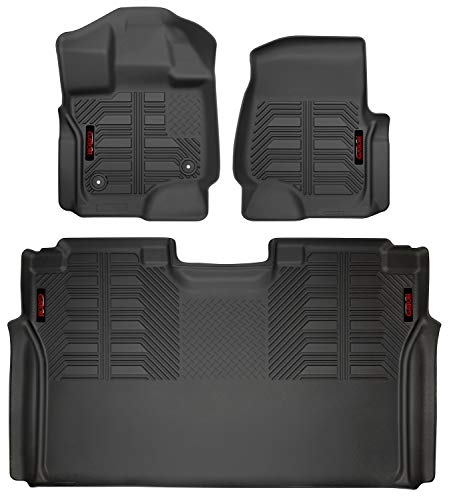 Gator 79611 Black Front and 2nd Seat Floor Liners Fits 2015-20 Ford F-150 SuperCrew