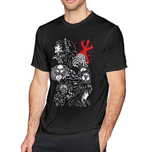 xijia maoyi Anime Berserk Short Sleeve Camiseta/T-Shirt Top for Hombre/Men Medium