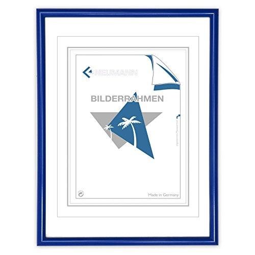 Neumann Bilderrahmen Kunststoffrahmen Classic, 50x60 cm, blau