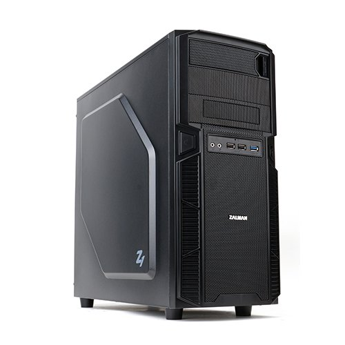 Zalman Z1 Midi-Tower PC-Gehäuse (ATX, 2X Externe 5,25, 4X 3,5 interne, USB 3.0, Keine Stromversorgung)