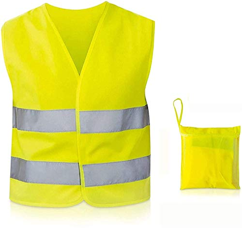 TN Sport Premium 1er Pack Warnweste Kinder 7 bis 12 Jahre, Reflektor Weste stark Sichtbar, Sicherheitsweste Warnwesten Kinder ISO Zertifiziert