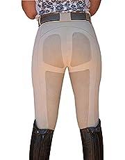 Minetom Equitación Mujer Suave Elástico Jodhpurs Pantalones para Equitación con Bolsillos Pantalones De Equitación para Mujer